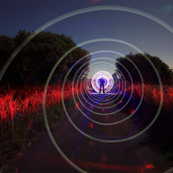IThinkingWaves - Lilienthal Germany - Light Painting