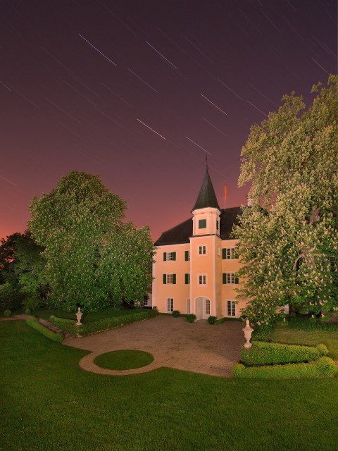 Stepperg - Schloss Stepperg - Roter Himmel -