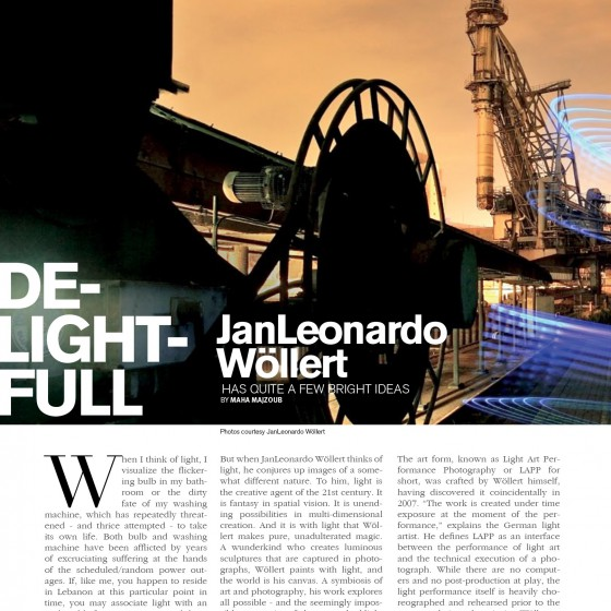 Light Painting Artikel - RagMag Magazin - Light Art und Light Painting Photography vom Künstler JanLeonardo