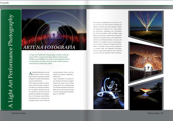 Enfoke-Design-Magazine about Light Painting Photographer JanLeonardo