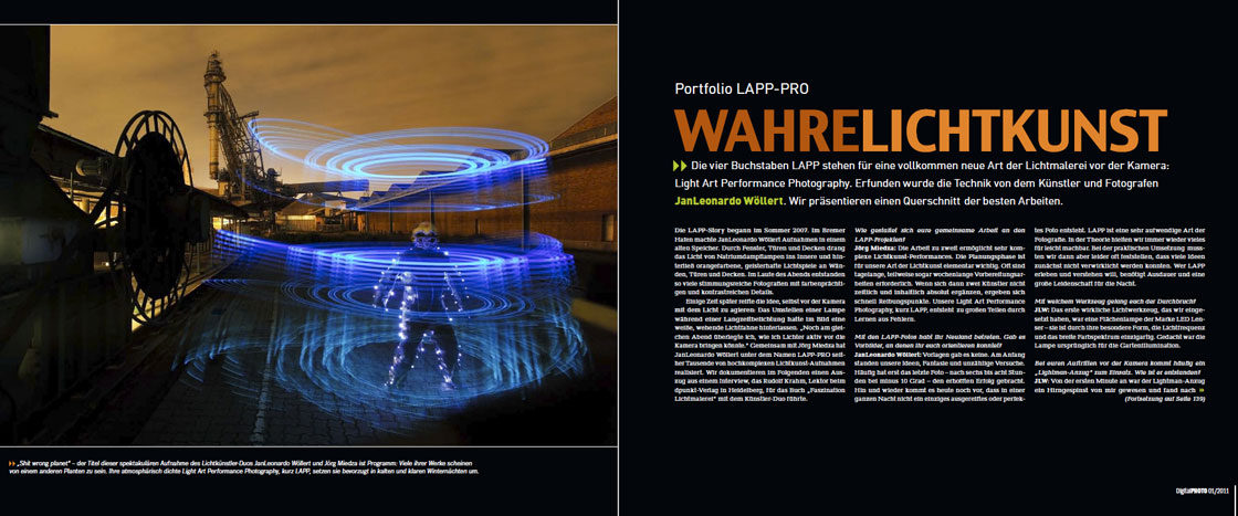 PhotoDigital-WahreLichtkunst about Light Painting Photographer JanLeonardo