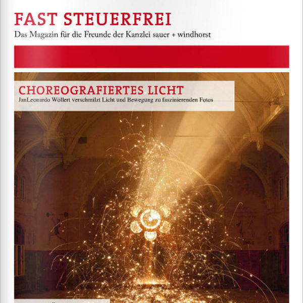 Steuerfrei-Magazine about Light Painting Photographer JanLeonardo