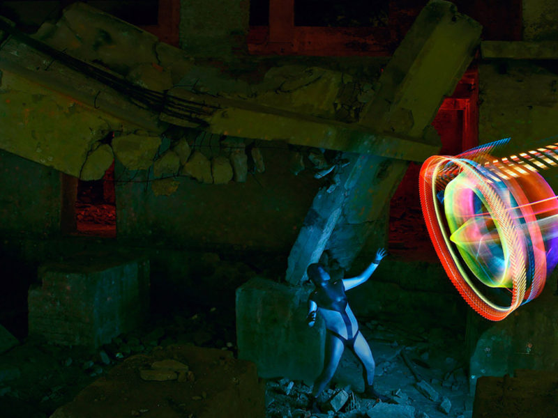 Light Painting - Ziegelfabrik-Motus - by JanLeonardo Light Art Photography