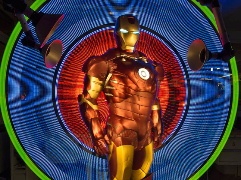Light Painting - IronMan - by JanLeonardo Light Art Photography