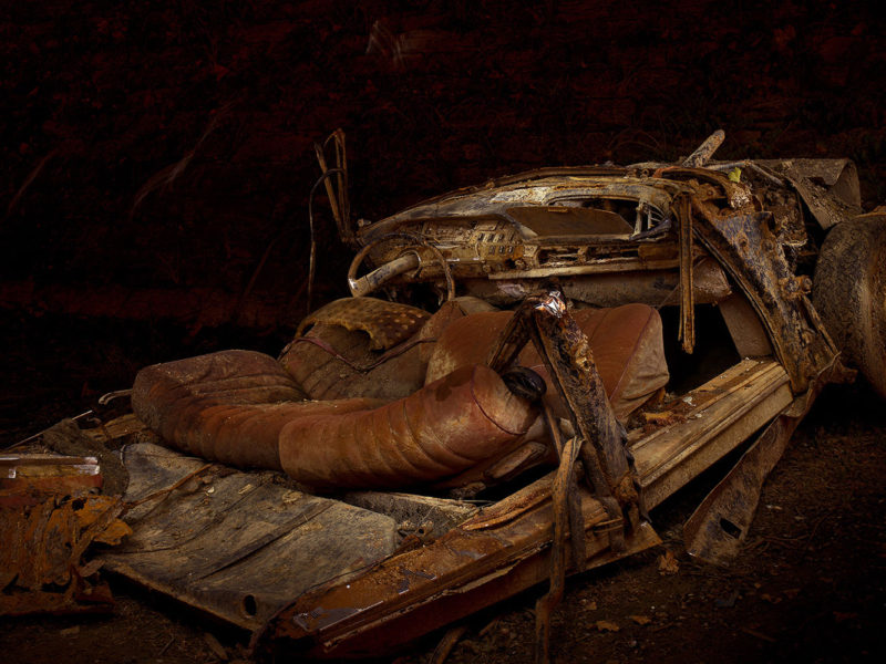 Light Painting - Car Wreck - by JanLeonardo Light Art Photography