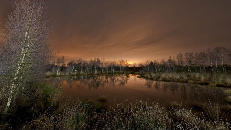 Moor Landschaft - Lightpainting by Lightart Photography artist JanLeonardo