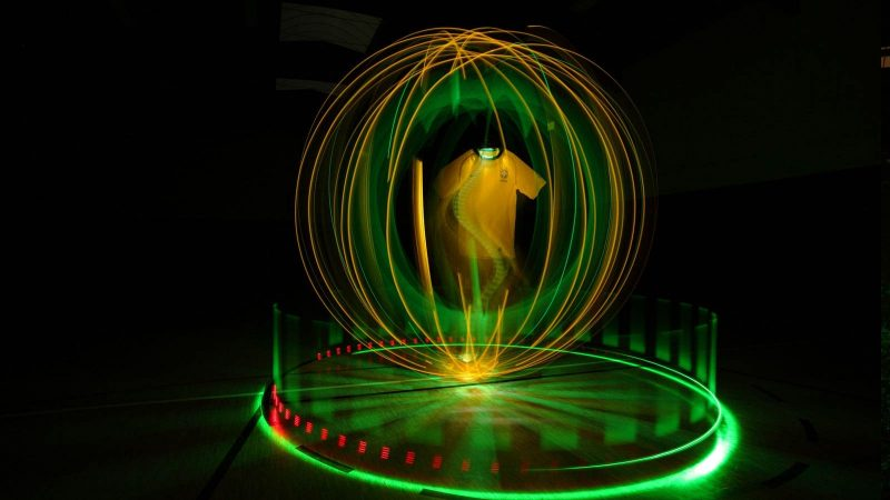 Nike Trikots - Lightpainting by Lightart Photography artist JanLeonardo