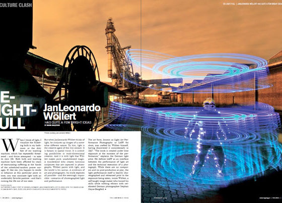 RAGMAG-Magazine about Light Painting Photographer JanLeonardo