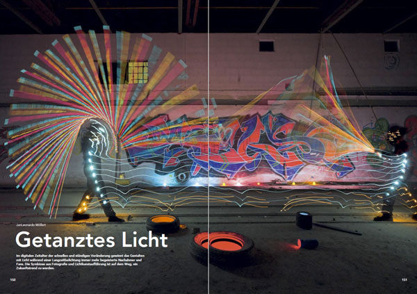c't-spcial-Getantztes-Lichtn about Light Painting Photographer JanLeonardo